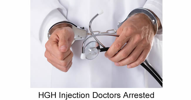 HGH injection arrests