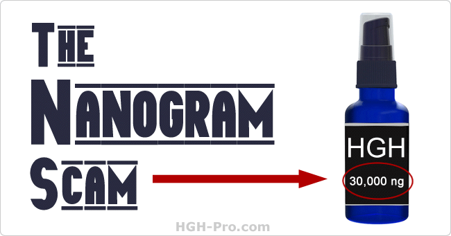 HGH nanogram scam