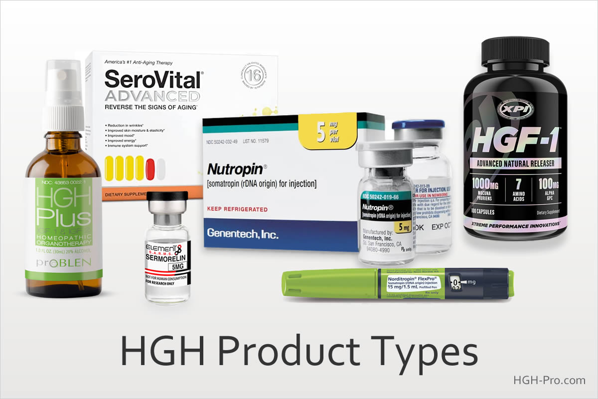 HGH product types